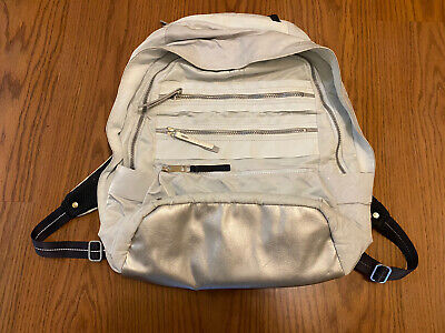 Womens Lululemon Pack To Reality Backpack Silver/Mint Color