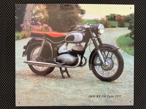 Repro 1955 BMW Motorcycle DKW RT 350 Tin Poster Print Sign Garage Home Shop Wall
