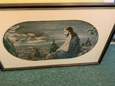 Framed Jesus Of Nazereth Tapestry