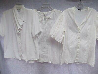 lot 3 shirt costume Ann Taylor M 10 12 bishop puff sleeve peasant cascade jabot ](Big Lots Costumes)