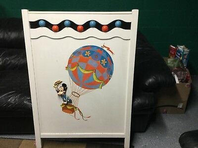 vintage disney child bed headboard 3D mickey mouse