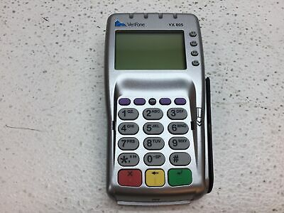Used Verifone Vx 805 Credit Card Reader No Back Power Cord - Reset To Default