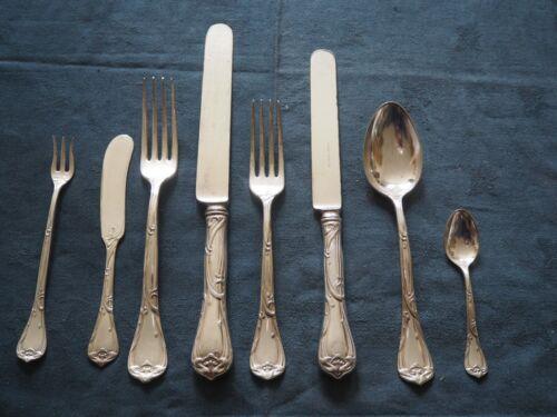 Vintage Reed & Barton silver plate cutlery 48 pcs Modern 1904 Art Nouveau design