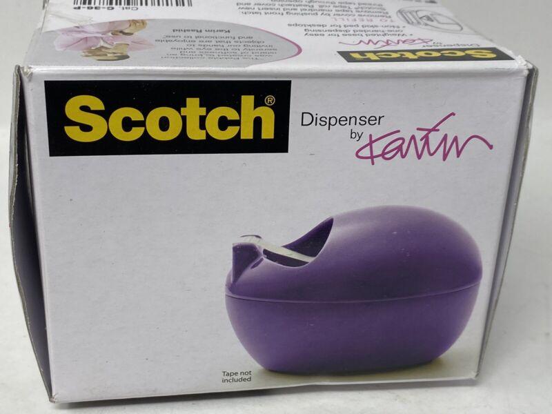 Scotch Pebble Collection Purple tape dispenser designed by Karim Rashid WORN BOX