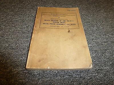 1943 War Dept International Ih Td18 Crawler Dozer Tractor Service Repair Manual