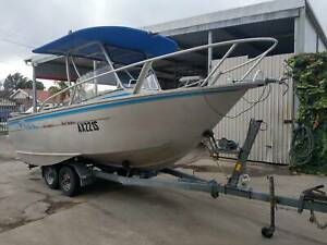 5.4m Reef Seeker - Walk around T-top - 115hp Evinrude Findon Charles Sturt Area Preview