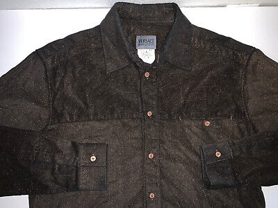 Versace Jeans Couture Long Sleeve Button Shirt, Men's Large