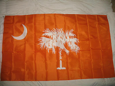 Wholesale Lot 20 3x5 State of South Carolina Orange Poly Flag 3'x5'