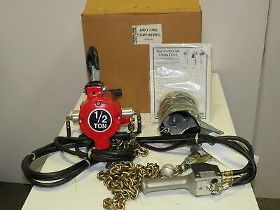Aro 7758-mh1 12 Ton 1000lb Air Pneumatic Chain Hoist 9 Lift