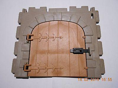 Playmobil Ritterburg Fachwerkhaus 1 großes Burgtor mit Riegel (sehr gut erhalten