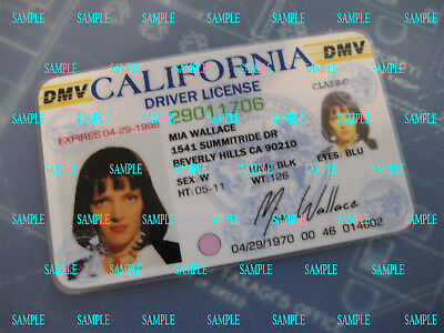 Pulp Fiction - Mia Wallace License - Prop - Cosplay - Novely - - Mia Wallace