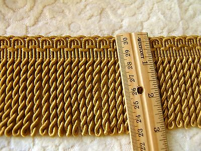 """SALE ~ Beautiful 3"""" Gold Bullion Fringe Trim ~ BTY ~Upholstery Pillows Crafts"""
