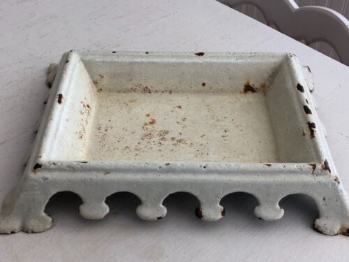 Antique French White Enamel Spittoon Enamelware