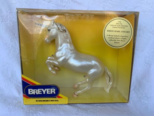 Breyer Horse White Pearly Unicorn 1996 New in box