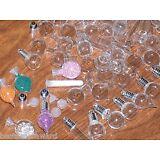 12pc Huge Lot Mix Glass potion Bottles vial charm wholesale mini little pendants