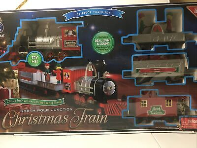 Blue Hat Toy Co. North Pole Junction 34 pc. Christmas Train Set