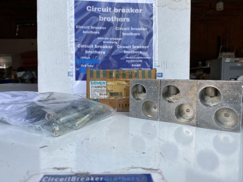 Siemens 3TA2MG750 Aluminum lug kit of 3 For MG-NG Frame New in box