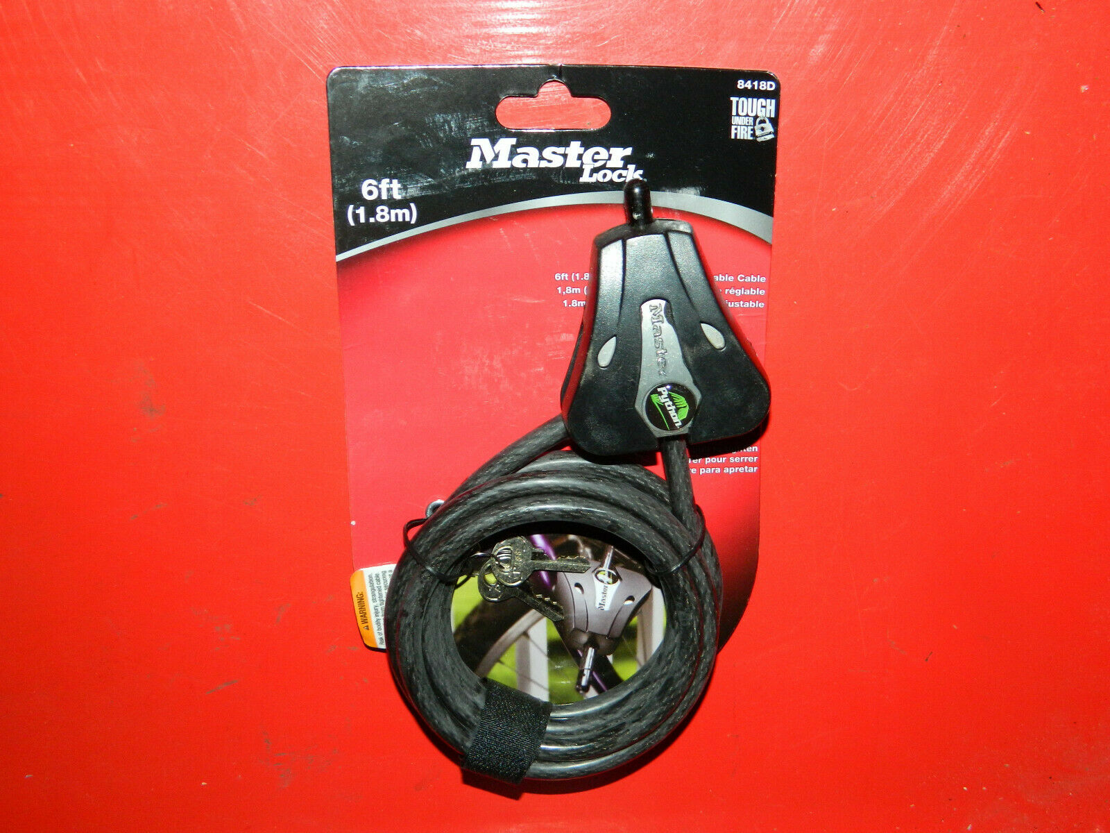 "Master Lock 8418d 6' X 5/16"" Master Lock® Keyed Cable Lock"