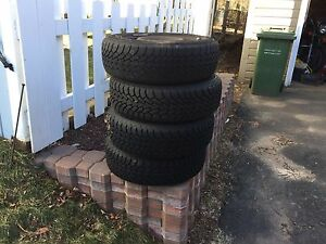 FS: winter tires on rims.  185/65 r15