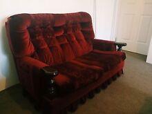 Vintage couch - Velvet (Maroon/Red) Meadow Springs Mandurah Area Preview