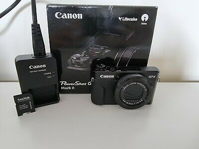 Canon PowerShot G7x Mark ii Camera + 32GB SD
