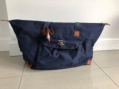 Travel & Pleasure Blue And Brown Large Weekend Bag/Holdall