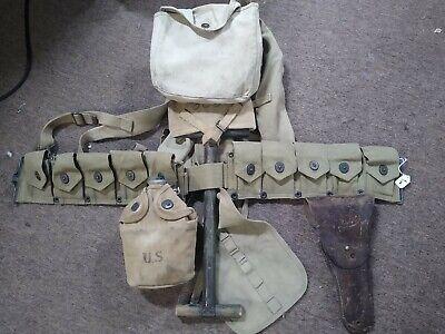 Ww1 Haversack, belt, canteen, shovel, holster Set