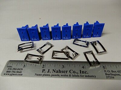 Omega 8 Nos Mpj-t-f Panel Mount Type T Thermocouple Connectors W Spring Clips