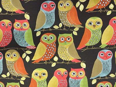 """Outdoor Indoor Canvas Fabric Sold By The Yard 54"""" W Owl Print  By P Kaufmann  for sale  Shipping to Nigeria"""