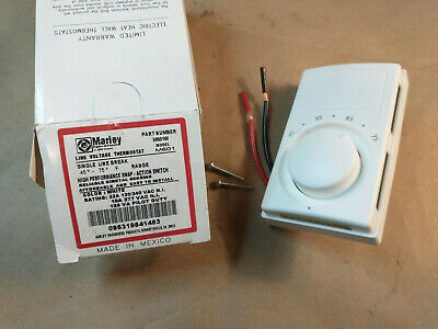Marley Line Voltage Thermostat M601w White 45-75f 22a 120240v - Fast Shipping