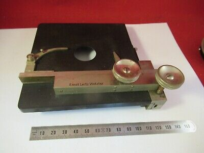 Antique Ernst Leitz Germany Brass Table Stage Microscope Part Optics 9-a-82