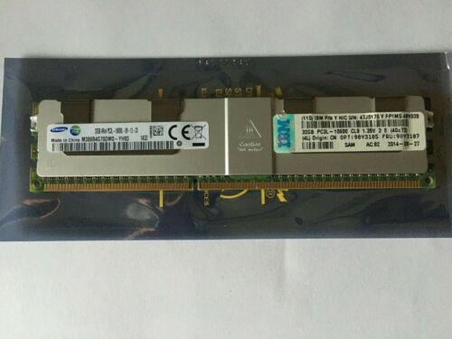 IBM 90Y3107 Samsung 32GB 4RX4 PC3L-10600L DR3-1333 LRDIMM RAM Memory