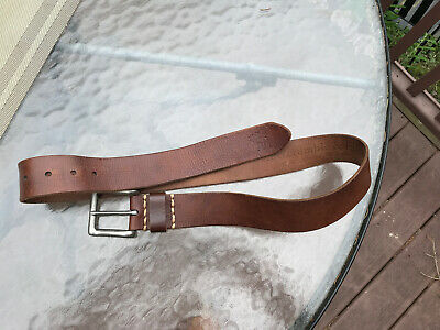 Abercrombie & Fitch Brown Leather Wide Belt Size 32