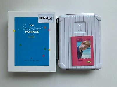 BTS 2018 Summer Package in Saipan w. Jimin Guide Book White Case Official Merch