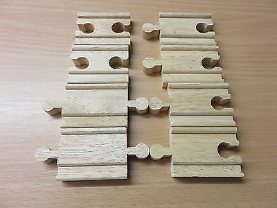 Mini-Schienen gerade 8 Stück für Holzeisenbahn passend zu Brio, Eichhorn usw.