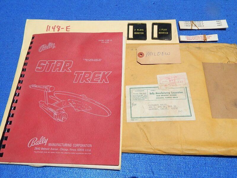 1979 Bally STAR TREK user manual & schematics package + award cards