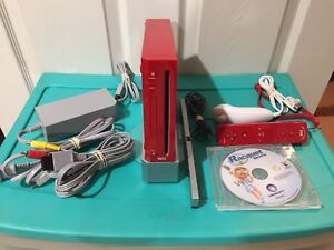 Limited Edition Red Nintendo Wii
