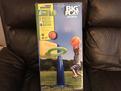 Inflatable Giant Jumbo Basketball w/ ball 6 Feet Tall Big Play Sports new in - Giant Inflatable Sports Balls