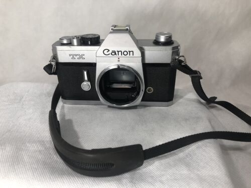 Vintage Canon TX 35mm SLR Film Camera Body Only W/Strap UnTested - $12.96