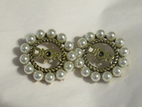 DIOR 2 buttons  BRASS  tone 18 mm   BUTTONS THIS IS FOR 2