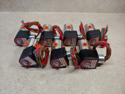 Lot of (7) Parker 3-way 7133TVN- 100 PSI 120/60V SS Solenoid Valves