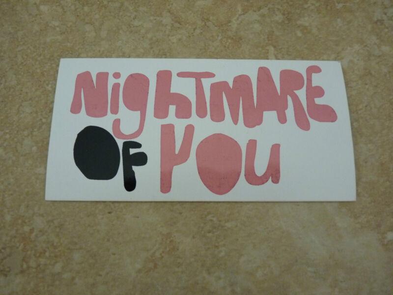 "Nightmare of You RARE Luggage 5.5"" Sticker PROMO"