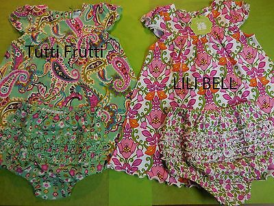 Vera Bradley Baby Girl Dress & Bloomers 6-9  / 9 -12 Months You Choose R $49.00