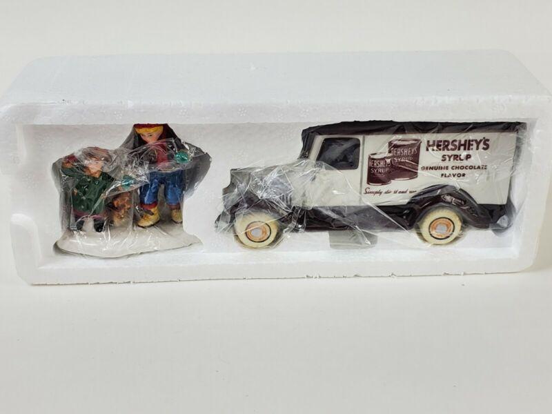 1997 Dept 56 Snow Village KIDS LOVE HERSHEYS 2 Piece Christmas Set in Box