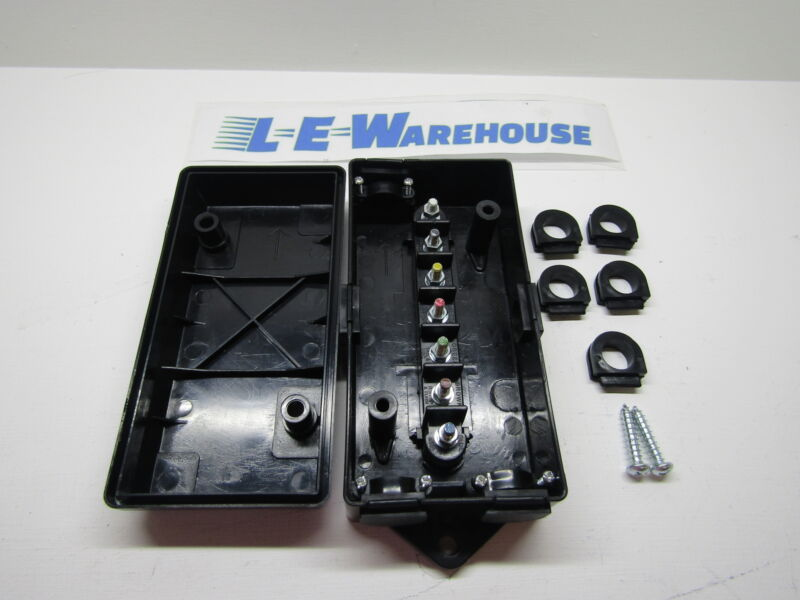 Abs Electrical Junction Box With 7 Color Coded Terminals #5601101