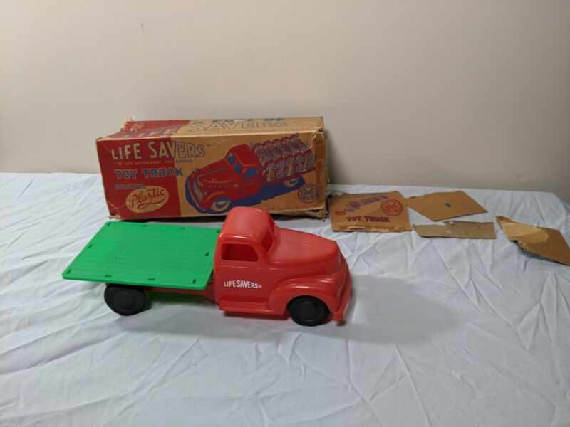 Vintage 1950s Collectible LIFE SAVERS Plastic Marx Truck