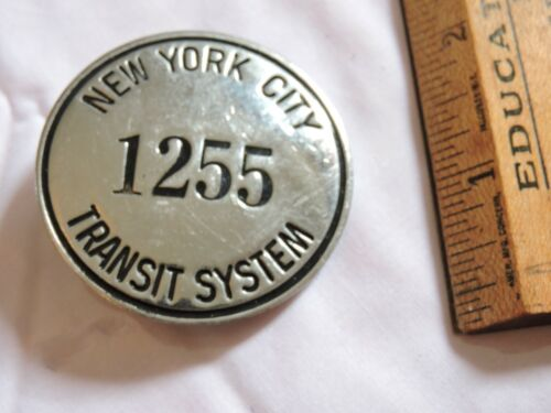 Rare NYCTS 1950 New York City Transit Subway Badge