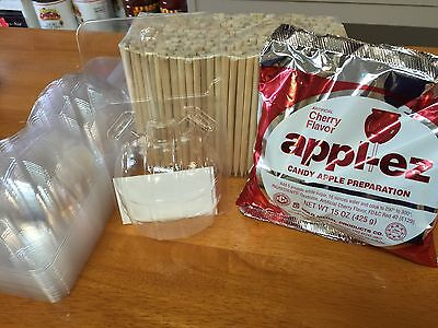 Candy Apple kit, mix, sticks, and bubbles combo pack (Gold Medal)