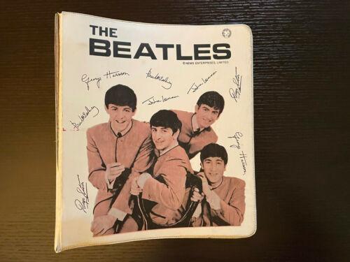 Original 1964 THE BEATLES 3 Ring BINDER NEMS