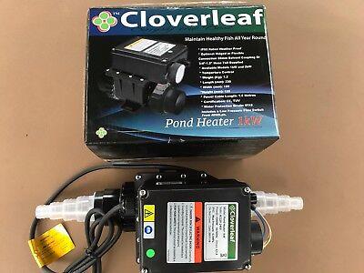 Cloverleaf Pond Heater 1kW Weatherproof Temperature Control Healthy Fish Pond